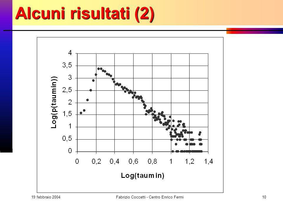 19 febbraio 2004 Fabrizio Coccetti - Centro Enrico Fermi10 Alcuni risultati (2)