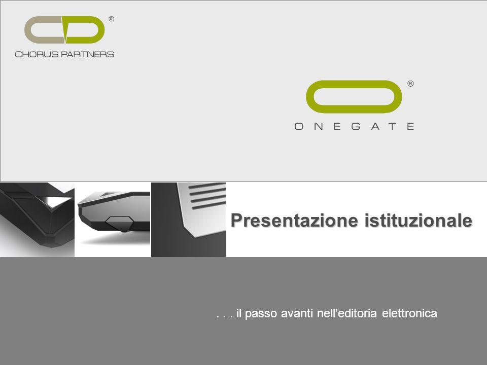 ... il passo avanti nelleditoria elettronica Presentazione istituzionale