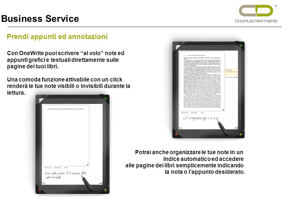 Con OneWrite puoi scrivere al volo note ed appunti grafici e testuali direttamente sulle pagine dei tuoi libri.