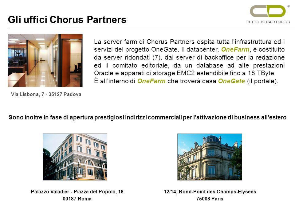 La server farm di Chorus Partners ospita tutta linfrastruttura ed i servizi del progetto OneGate.