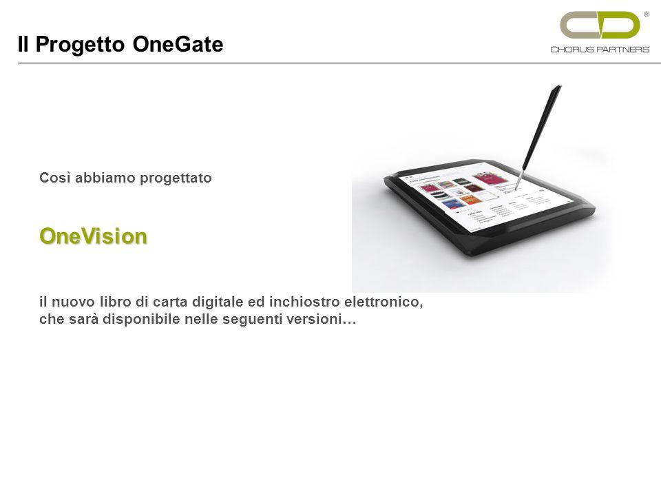 Così abbiamo progettatoOneVision il nuovo libro di carta digitale ed inchiostro elettronico, che sarà disponibile nelle seguenti versioni… Il Progetto OneGate