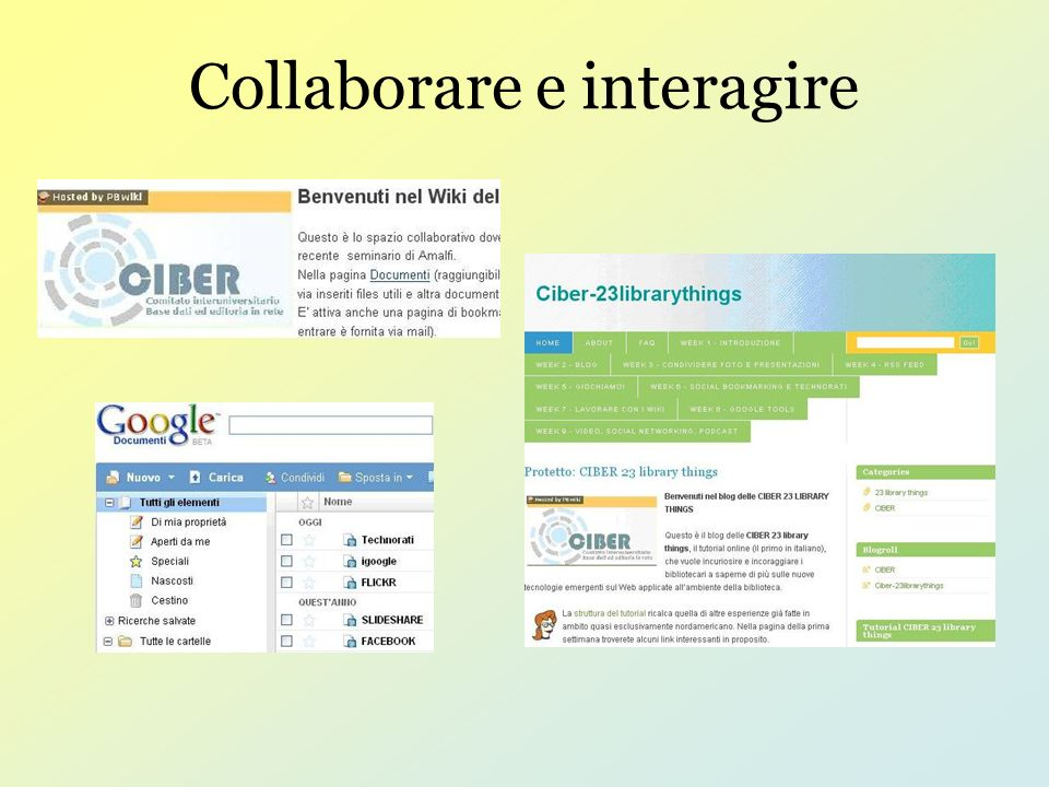 Collaborare e interagire
