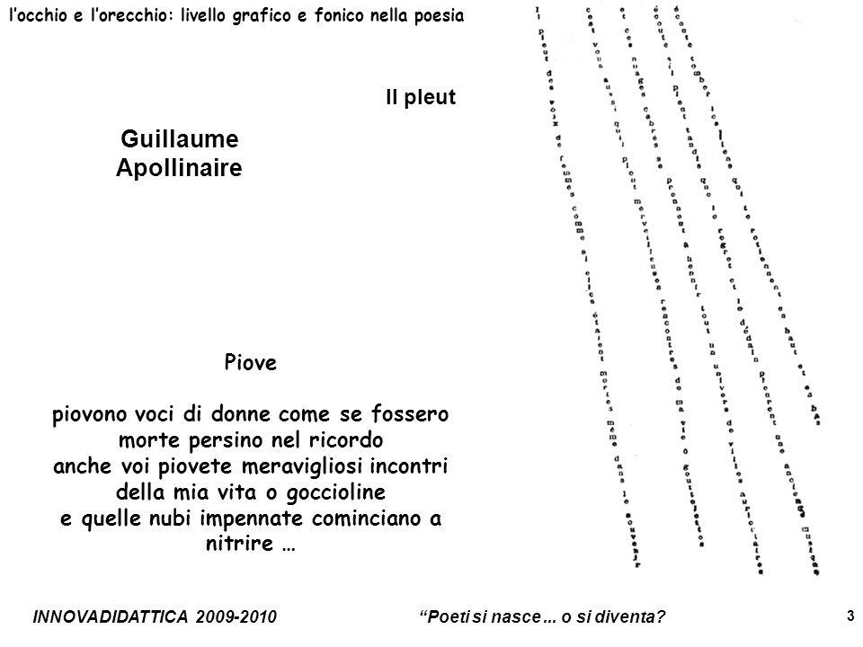 INNOVADIDATTICA 2009-2010 Poeti si nasce...o si diventa.