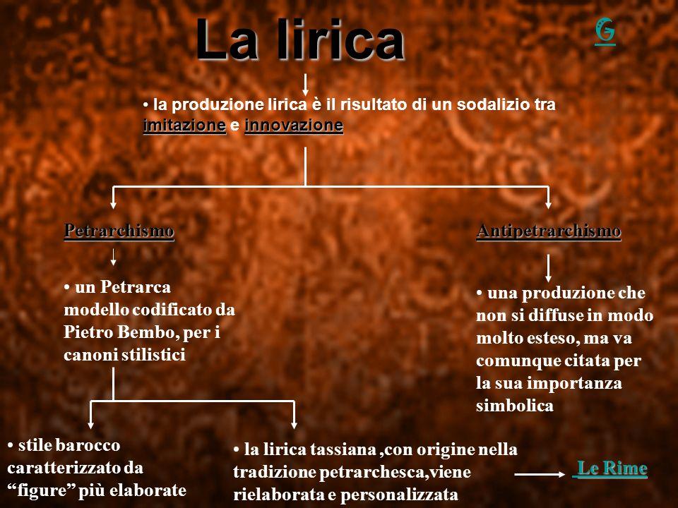 La lirica la produzione lirica è il risultato di un sodalizio tra imitazione e i ii innovazione AntipetrarchismoPetrarchismo una produzione che non si