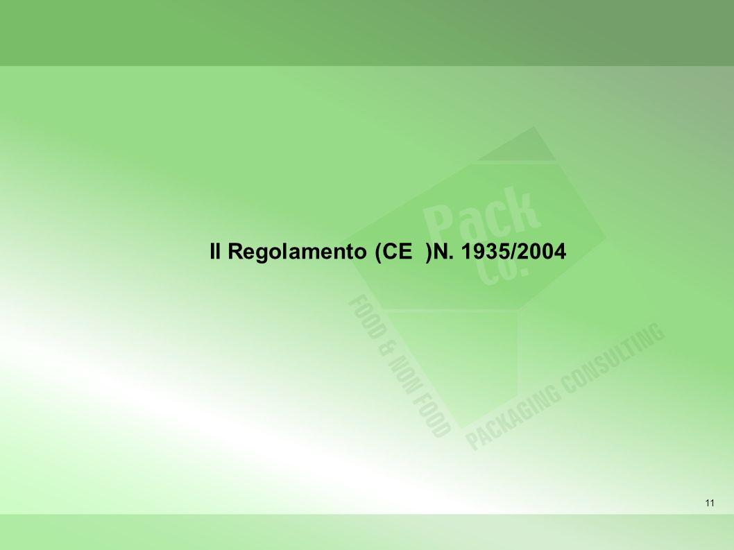 11 Il Regolamento (CE )N. 1935/2004