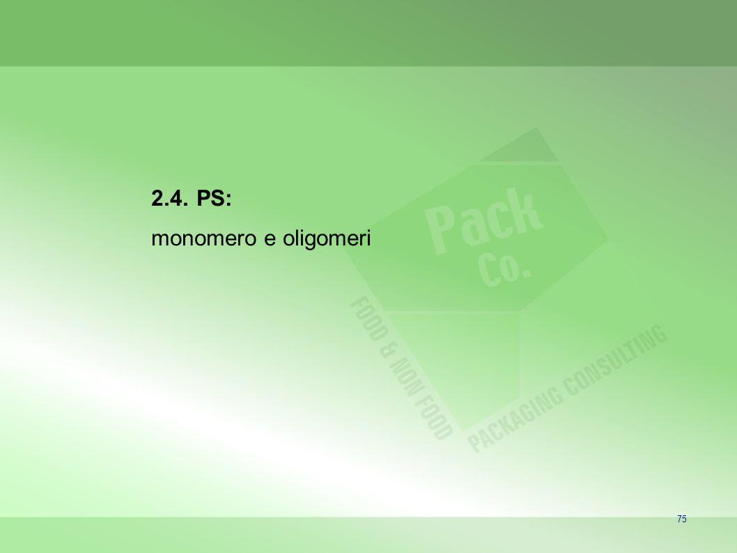 75 2.4. PS: monomero e oligomeri