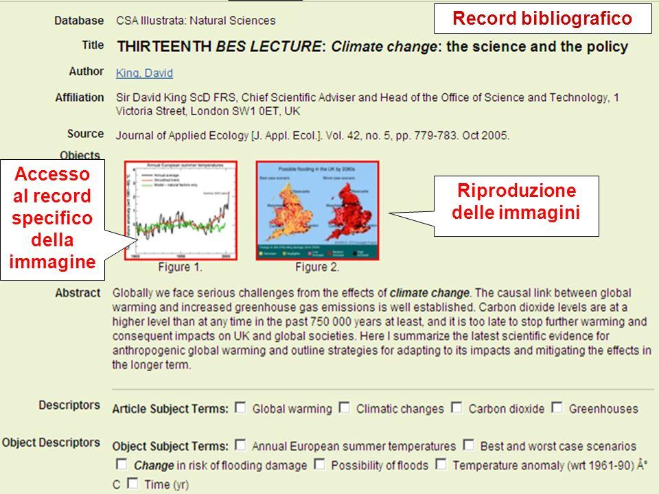 Proprietary and Confidential ProQuest Information & Learning Accesso al record specifico della immagine Record bibliografico Riproduzione delle immagi