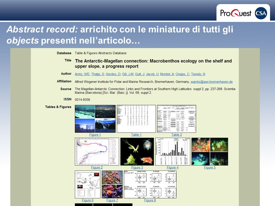Proprietary and Confidential ProQuest Information & Learning Abstract record: arrichito con le miniature di tutti gli objects presenti nellarticolo…
