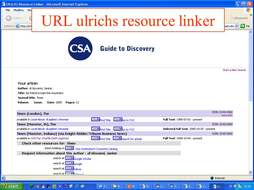 URL ulrichs resource linker