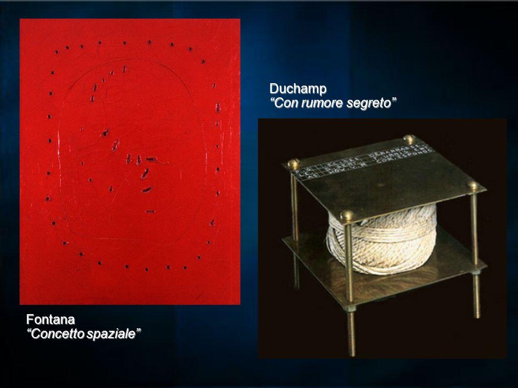 Fontana Concetto spaziale Duchamp Con rumore segreto