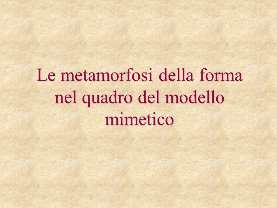 Le metamorfosi della forma nel quadro del modello mimetico