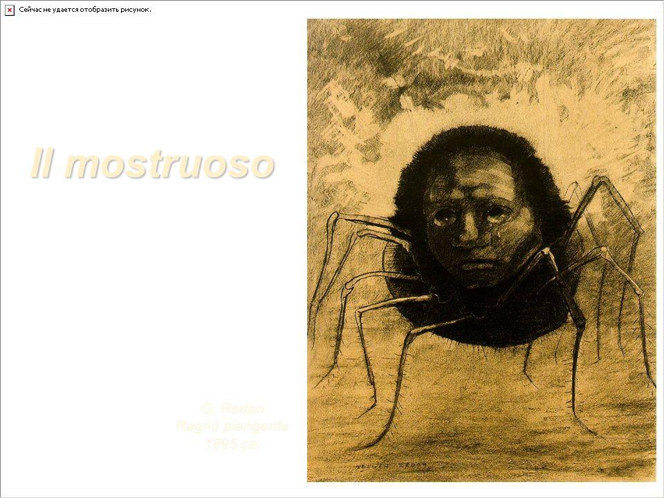 Il mostruoso O. Redon Ragno piangente 1895 ca.