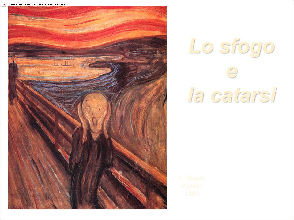 Lo sfogo e la catarsi E. Munch Il grido 1893
