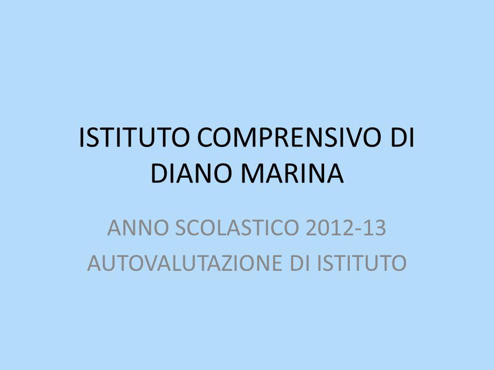 ISTITUTO COMPRENSIVO DI DIANO MARINA ANNO SCOLASTICO 2012-13 AUTOVALUTAZIONE DI ISTITUTO