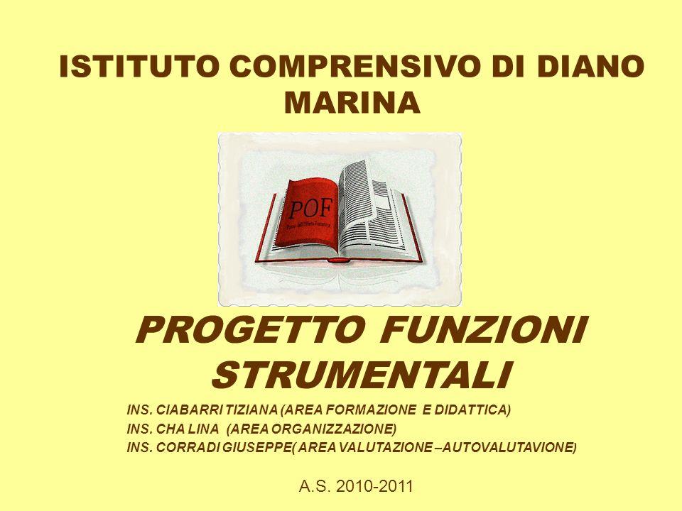 ISTITUTO COMPRENSIVO DI DIANO MARINA PROGETTO FUNZIONI STRUMENTALI INS.
