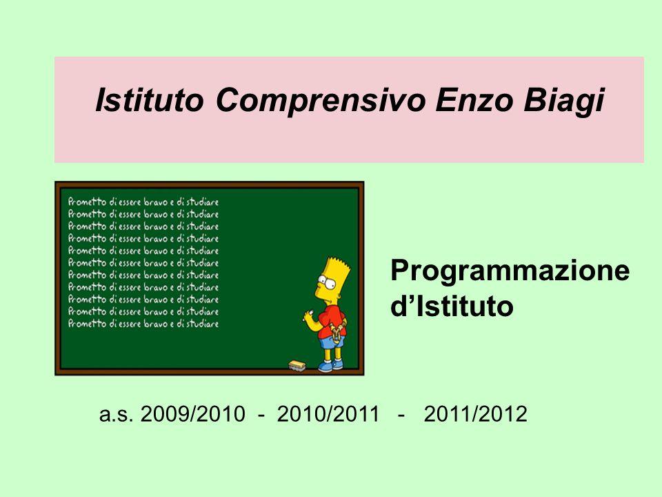 Istituto Comprensivo Enzo Biagi Programmazione dIstituto a.s. 2009/2010 - 2010/2011 - 2011/2012
