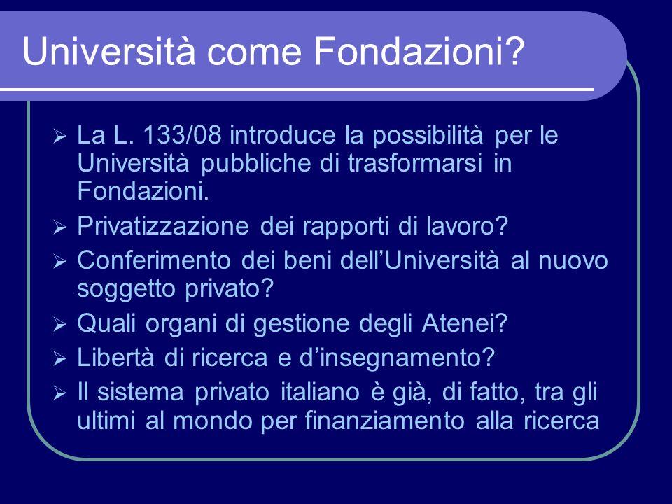 Università come Fondazioni.La L.