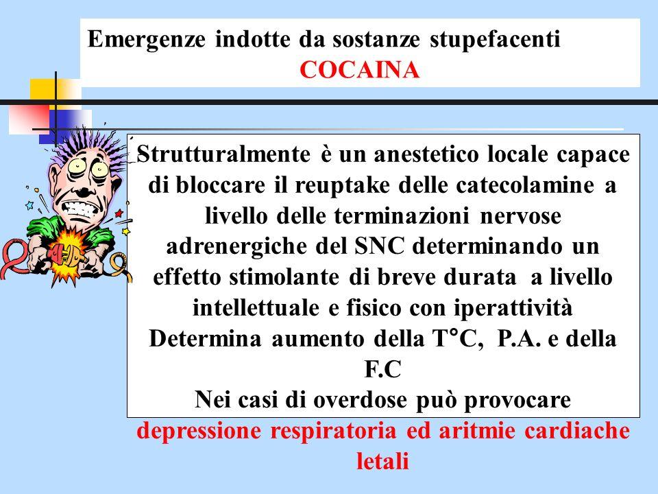 Strutturalmente è un anestetico locale capace di bloccare il reuptake delle catecolamine a livello delle terminazioni nervose adrenergiche del SNC det