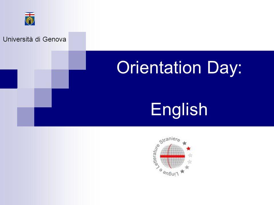 Orientation Day: English Università di Genova