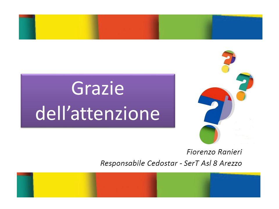 Fiorenzo Ranieri Responsabile Cedostar - SerT Asl 8 Arezzo Grazie dellattenzione Grazie dellattenzione