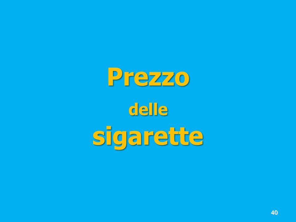 Prezzo delle sigarette 40