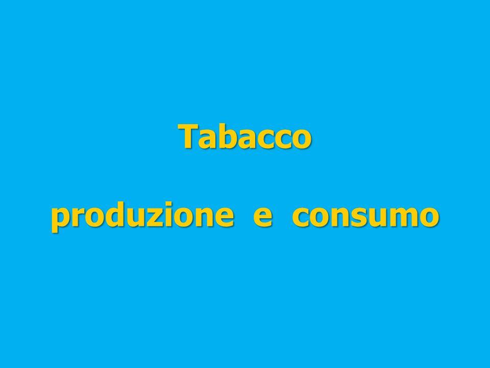 Tabacco produzione e consumo