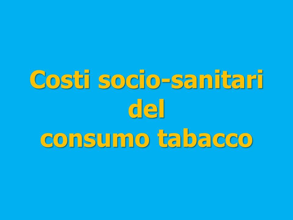 Costi socio-sanitari del consumo tabacco