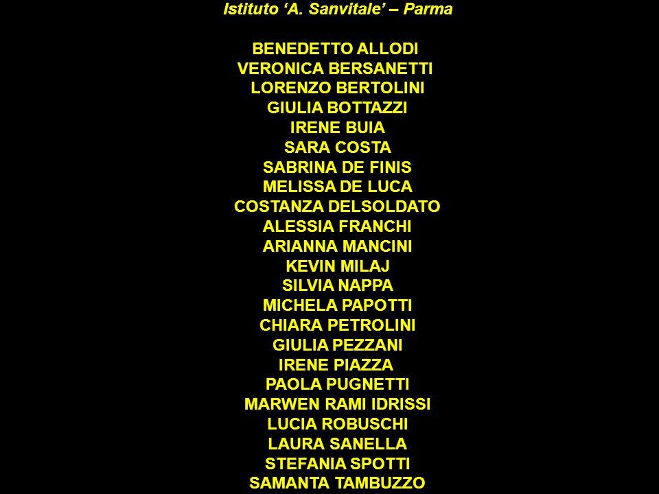 Ricerche ed elaborazione a cura della classe 2^ B Scienze Sociali Istituto A. Sanvitale – Parma BENEDETTO ALLODI VERONICA BERSANETTI LORENZO BERTOLINI