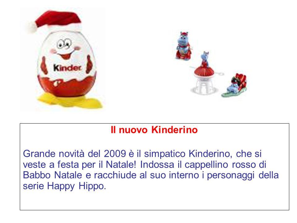 Il nuovo Kinderino Grande novità del 2009 è il simpatico Kinderino, che si veste a festa per il Natale.