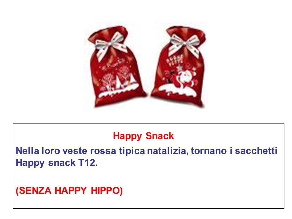 Happy Snack Nella loro veste rossa tipica natalizia, tornano i sacchetti Happy snack T12.