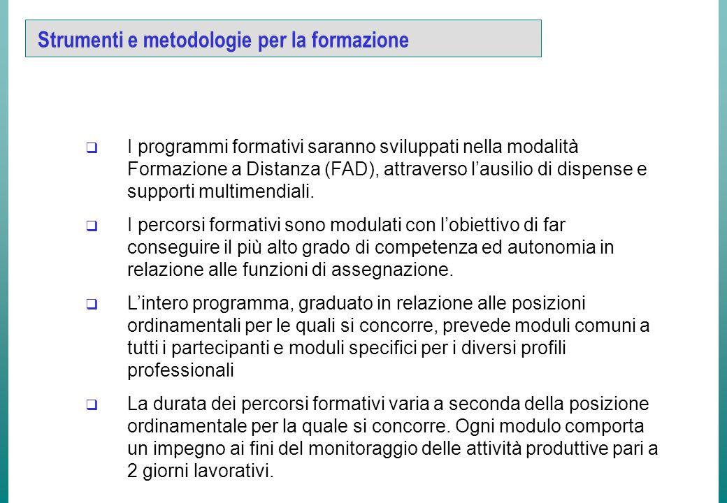 Strumenti Tutte le fasi dellattività formativa possono essere gestite con sistemi informatizzati.