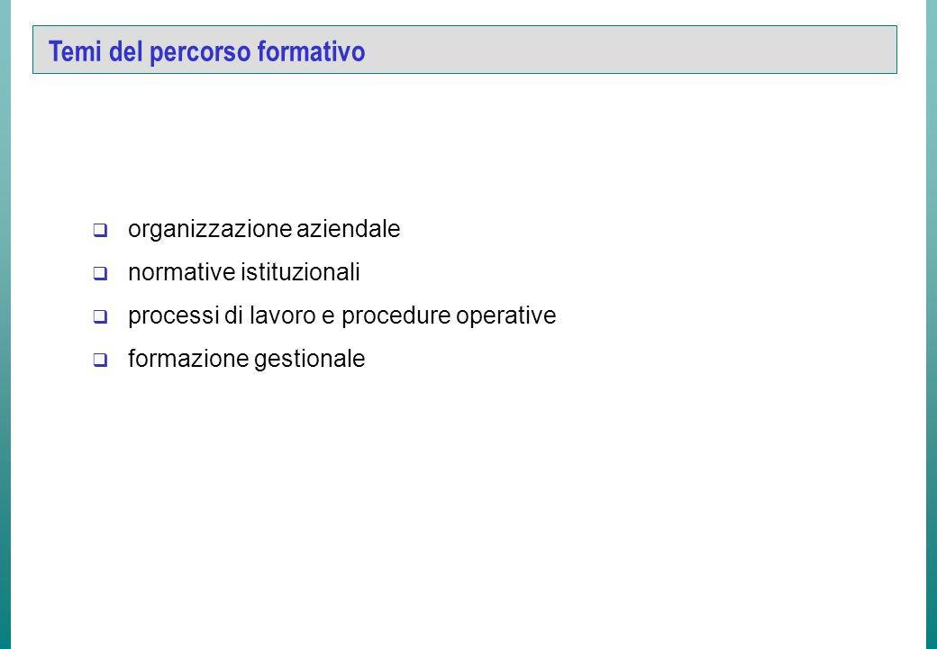 Obiettivi didattici di tipo specifico Il percorso formativo prevede contenuti specifici per i diversi profili professionali previsti dai bandi di sele