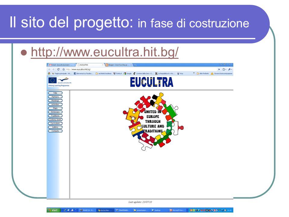 Il sito del progetto: in fase di costruzione http://www.eucultra.hit.bg/