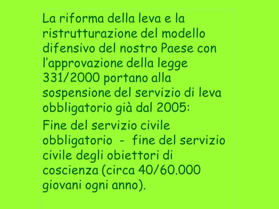 Monitorare lesperienza di servizio civile avviata negli Enti della Regione Marche per: - Valutarne limpatto nelle politiche sociali, culturali e ambientali;