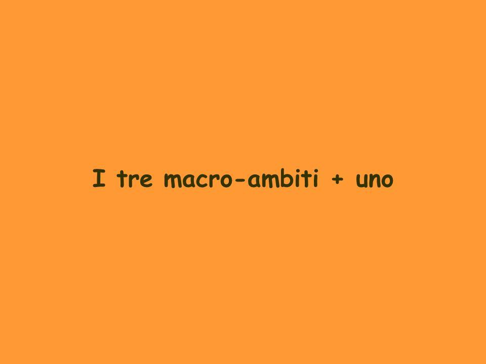 I tre macro-ambiti + uno