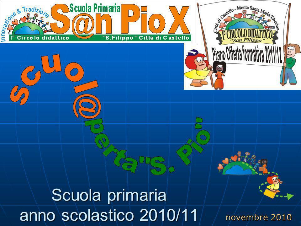 Scuola primaria anno scolastico 2010/11 novembre 2010