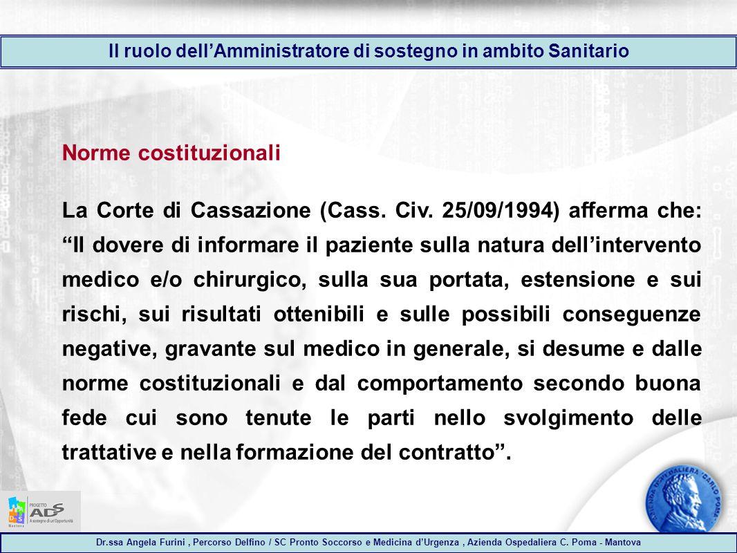 Dr.ssa Angela Furini, Percorso Delfino / SC Pronto Soccorso e Medicina dUrgenza, Azienda Ospedaliera C.