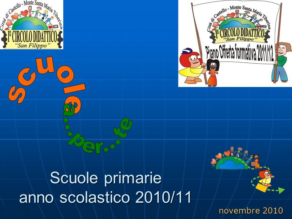 Scuole primarie anno scolastico 2010/11 novembre 2010
