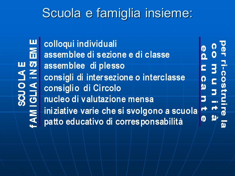 Scuola e famiglia insieme: