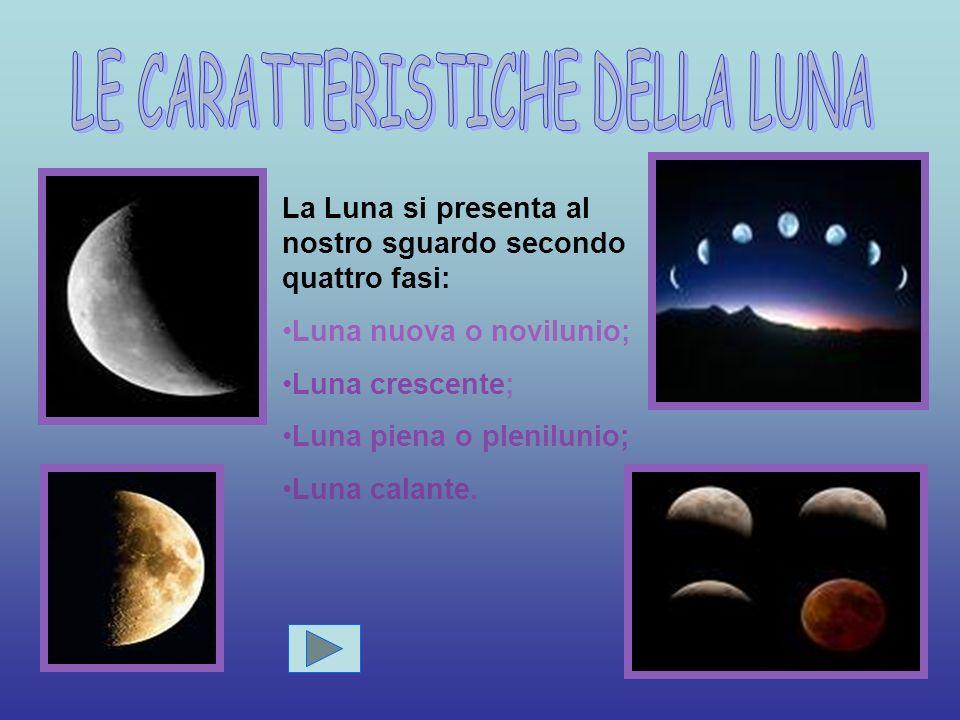 La Luna è l unico satellite naturale della Terra.