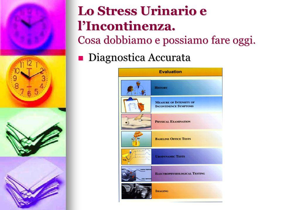 Lo Stress Urinario e lIncontinenza. Cosa dobbiamo e possiamo fare oggi. Diagnostica Accurata Diagnostica Accurata