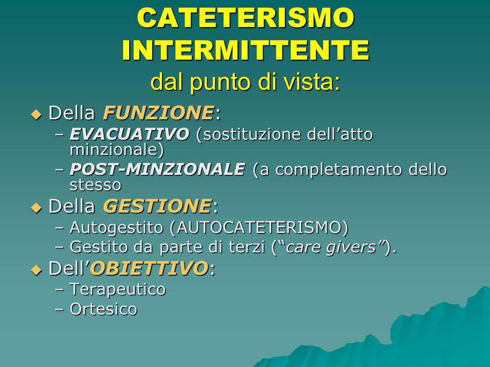 TIPOLOGIE di CATETERE