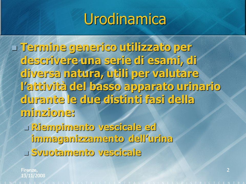 Firenze, 13/11/2008 2 Termine generico utilizzato per descrivere una serie di esami, di diversa natura, utili per valutare lattività del basso apparat