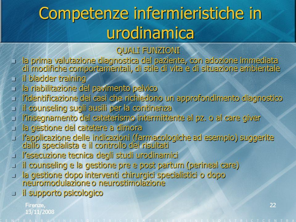 Firenze, 13/11/2008 22 QUALI FUNZIONI la prima valutazione diagnostica del paziente, con adozione immediata di modifiche comportamentali, di stile di