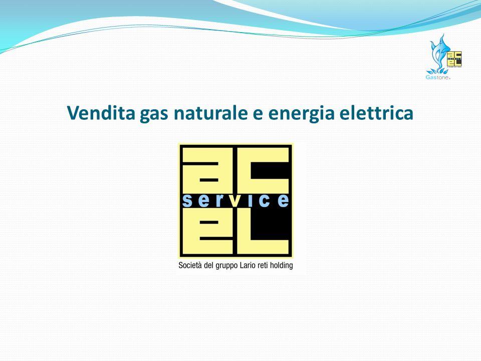 Vendita gas naturale e energia elettrica