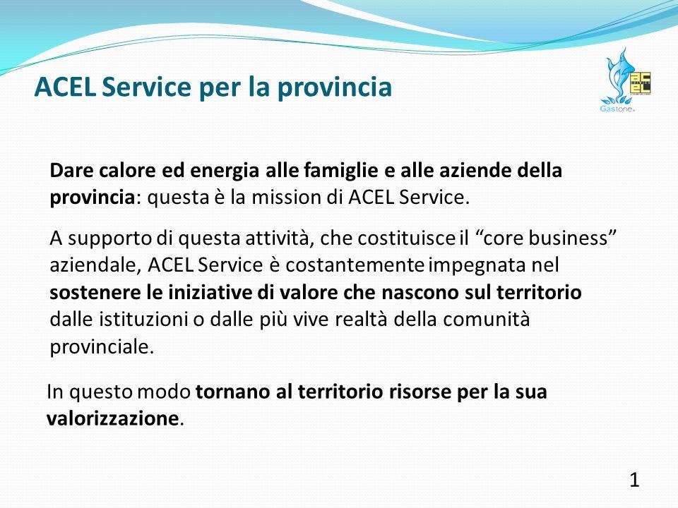ACEL Service per la provincia Un anno di impegno a favore di sport, cultura, sociale e territorio