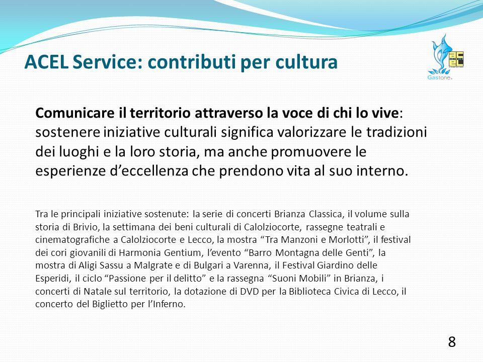 ACEL Service: contributi per area 7