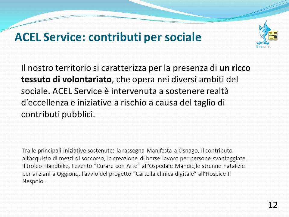 ACEL Service: contributi per sport 11