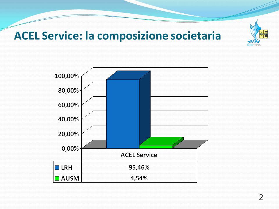 ACEL Service: contributi erogati nel 2010 2 Nel corso del 2010 ACEL Service ha investito quasi 160 mila Euro in contributi a sostegno di 107 differenti iniziative.