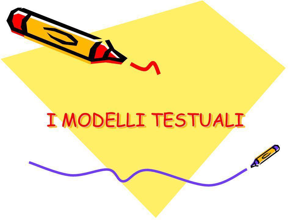 I MODELLI TESTUALI